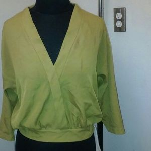 Chartreuse Forever 21 Blouse